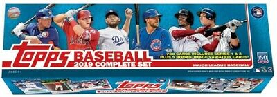 2019 Topps Baseball Complete Retail Factory Set w/ 5 Photo Variation Cards!