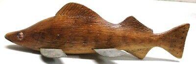 ROSS ALLEN SR PERCH~LDF NATIVE~FOLK ART FISH SPEARING DECOY~ICE FISHING LURE
