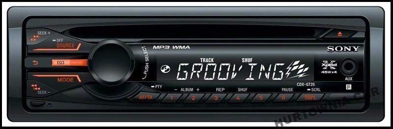 SONY cdx-gt26 CD/MP3 car Cd radio with front AUX input