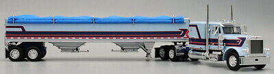 "DCP34013 BLUE 1/64 PETERBILT 379 60"" W/ MATCHING HOPPER"