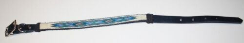 """NEW MONTANA STATE PRISON HITCHED HORSE HAIR 20"""" DOG COLLAR FREE SHIPPING"""