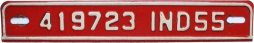 Indiana 1955 License Plate Tab - Very Good Condition