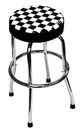 ATD TOOLS Shop Stool with Checker Design 81055