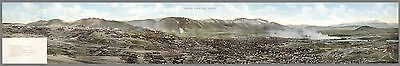 1913 PICTORIAL map Panoramic View of Butte Montana buildings POSTER 8978000