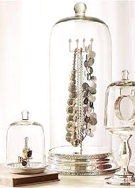Pottery Barn glass jewelry cloches