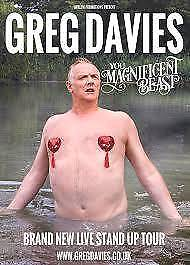 Greg Davies FRONT ROW New Theatre Oxford Saturday 21st October £100