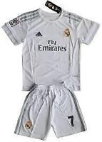 Кids set Real Madrid jerseys and shorts, Ronaldo for 6-13 years