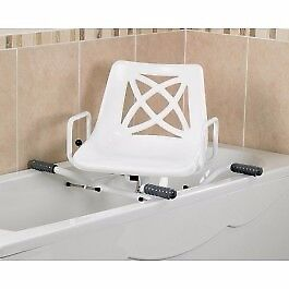 Myco Adjustable Swivel Bathing Chair that fits on Bath