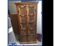 Original Antique Cupboard made from Temple Indian Doors