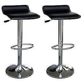 BAR STOOLS BLACK LEATHER FAUX - BOX OF 2 STOOLS $60 CLEARANCE