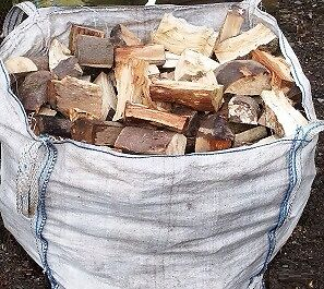Soft Wood , Logs , Firewood , Log Burner , 1 ton builders bag