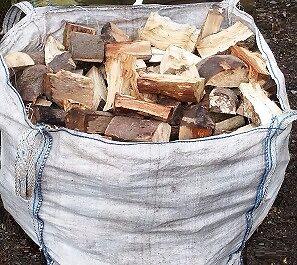 Soft Wood , Logs , Firewood , Log Burner , 1 ton builders bag