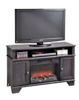 Tv stand with electric wood stove,brand new not even a week old