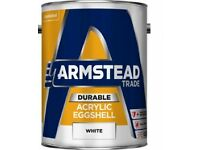 Armstead Trade Durable Acrylic Eggshell white - 5litres