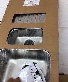 linear inset sink 1.5 bowl single drainer reversible