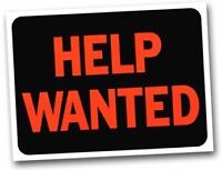 HELP WANTED! PART TIME ONLY! WITH EXPERIENCE!!