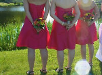 Bridemaids dress, fuchsia dress, wedding party