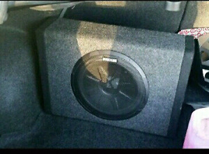 10 kicker sub with built in amp
