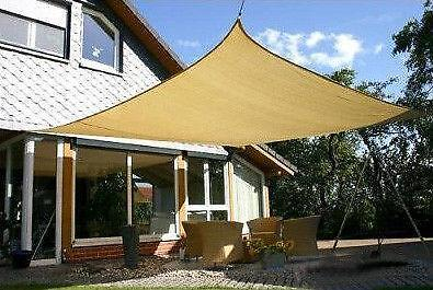 Shade sail square awnings canopies tents ebay for Shade cloth san diego