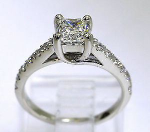 .80 ctw Radiant Cut Diamond Engagement Ring 14kt WG Kitchener / Waterloo Kitchener Area image 5