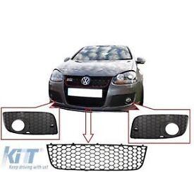 VW Golf V 5 GTI Look Fog Lamp Side Grilles Corner Mesh+Bumper Lower Grille Vent