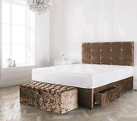 STUNNING DIVAN bed set with luxury mattress and FREE MATCHING HEADBOAR