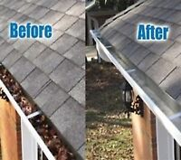 eavestrough cleaning and repair  , roof inspection and repair