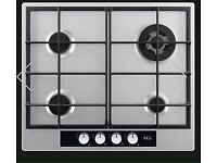 NEW S.STEEL AEG 4 BURNER GAS HOB Model: HG654440SM / Product: 949620816