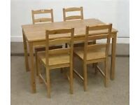 Ikea table and four chairs, like new,