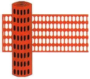 4ft High x 50ft. Long Orange Safety Fence & Snow Fence