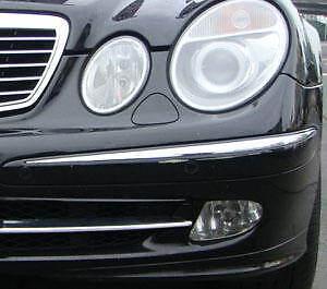 Mercedes e class w211 chrome front bumper trim 2002 2005 for Mercedes benz e350 parts accessories