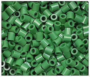 Dark Green Perler Beads (1000 Perler Dark Green Color Iron on Fuse beads)
