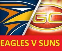 1-6 WEST COAST EAGLES V GOLD COAST SUNS TICKETS Leederville Vincent Area Preview