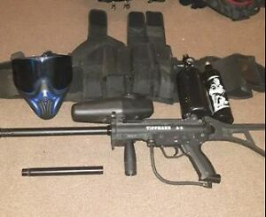 Tippmann A-5 paintball gun. Full starting kit.