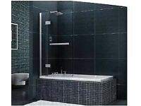 Shower screen. Bath screen. 8mm glass.