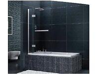Shower screen. Bath screen. 8mm glass. Life time warranty.