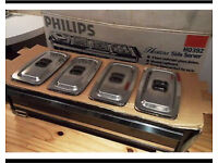 BNIB PHILIPS 4 DISH HOT PLATE/ SIDE SERVER