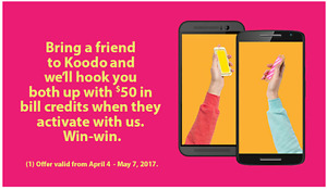 Credit Referral Koodo - Koodo $50 referral code - free