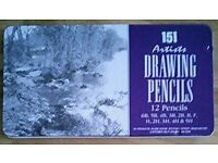Set Of 12 Sketching Pencils in a tin: 38 Sets - Car Boot / Job Lot