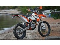 OFF ROAD MOTORBIKE WANTED KTM, KX, CR 125 250 450