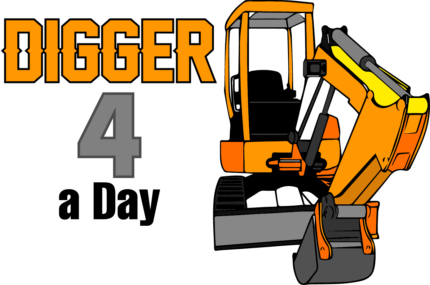 Digger 4 a Day.  $165* a day on a trailer.