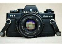 Vintage 35mm Praktica camera with 50mm lens