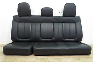 Ford F-150 rear leather seats. 09 / 14 black