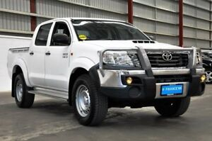 2012 Toyota Hilux KUN26R MY12 SR Double Cab White 4 Speed Automatic Utility