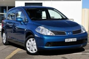 2008 Nissan Tiida C11 MY07 ST Blue 4 Speed Automatic Hatchback Gosford Gosford Area Preview