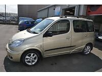 Toyota yaris verso for sale 2002 91k genuine milege qwick sale gold with leather seats drives perfet
