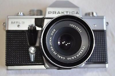 Praktica mtl3 camera with carl zeiss jena ddr 2.8 50 lens in