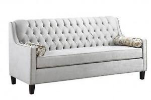 GREY STUDDED SOFA - SOFA AND LOVESEAT SETS FOR SALE - VERY COMFY GREY SOFA (BD-1297)