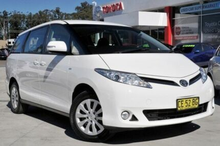 2015 Toyota Tarago ACR50R MY13 GLi White 7 Speed CVT Auto Sequential Wagon