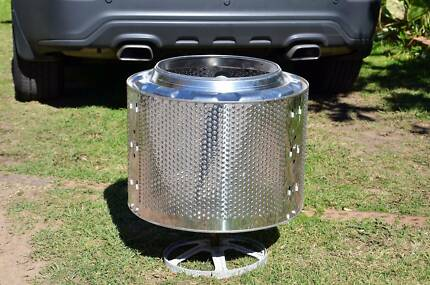 Fire pit, washing machine drum for out door BBQ/warm up in winter